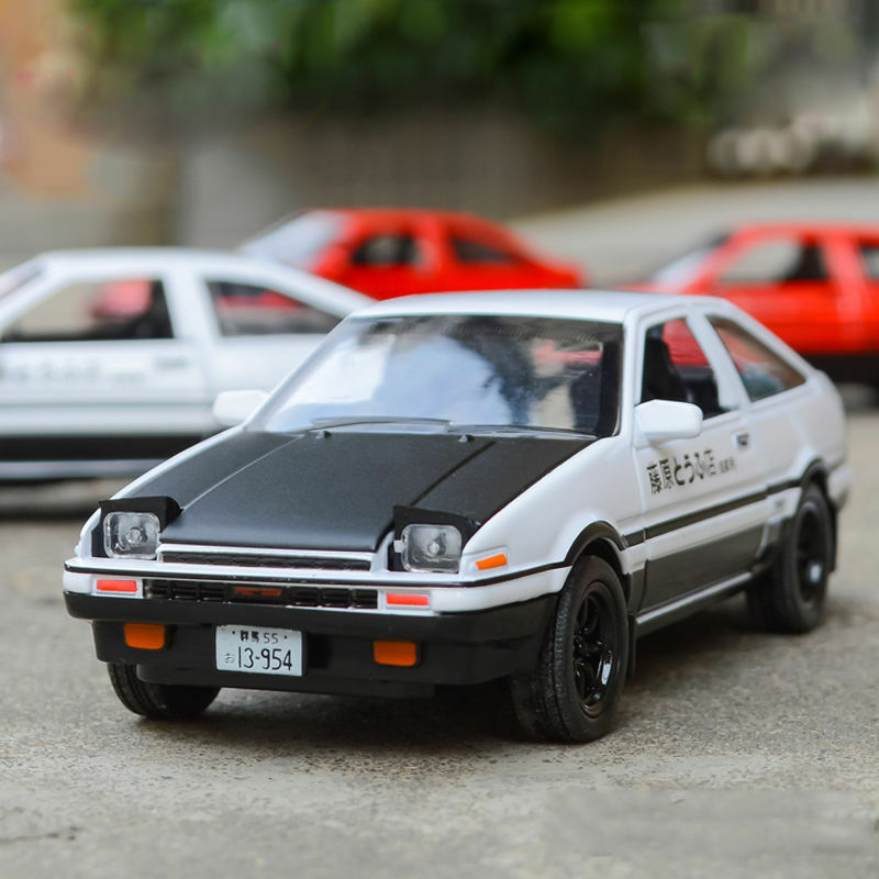 initial d toyota trueno ae86 metal 1 28 diecast model car toy gift sound light ebay. Black Bedroom Furniture Sets. Home Design Ideas