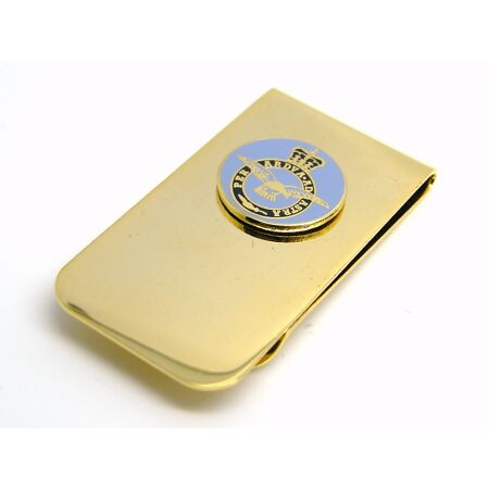 img-THE ROYAL AIR FORCE RAF BADGE MONEY CLIP R A F MILITARY GIFT IN POUCH