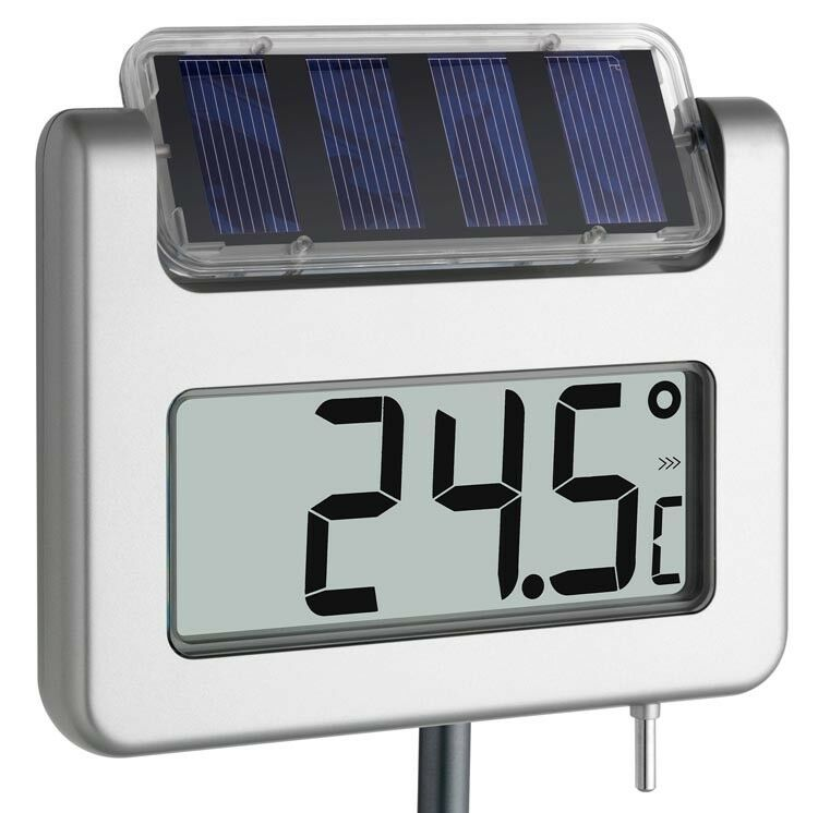 gartenthermometer avenue tfa solar leucht lcd 940 mm gross display ebay. Black Bedroom Furniture Sets. Home Design Ideas