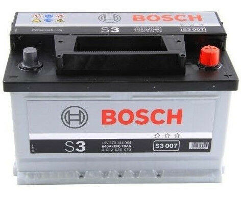 Bosch Car Battery S3007 Type Uk 100 12v 70ah 640amp 3 Year Warranty