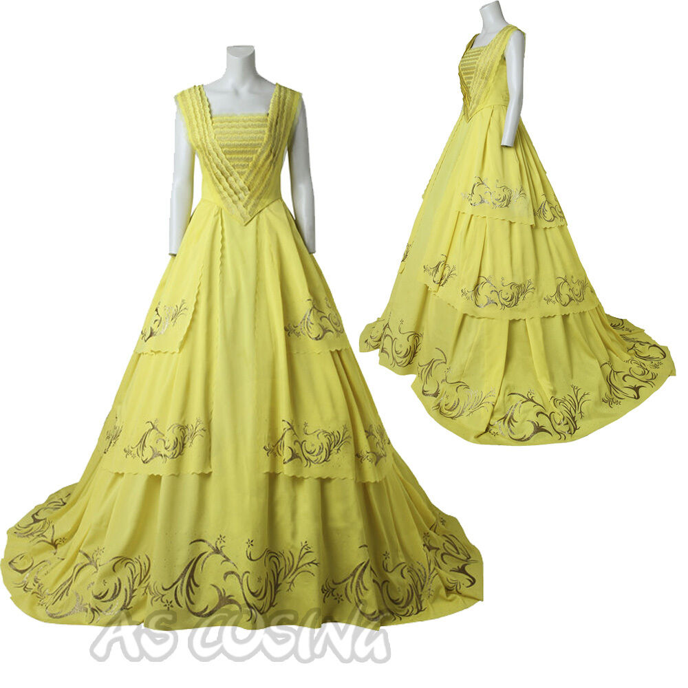 Movie 2017 Beauty And The Beast Belle Dress Belle Cosplay Costume