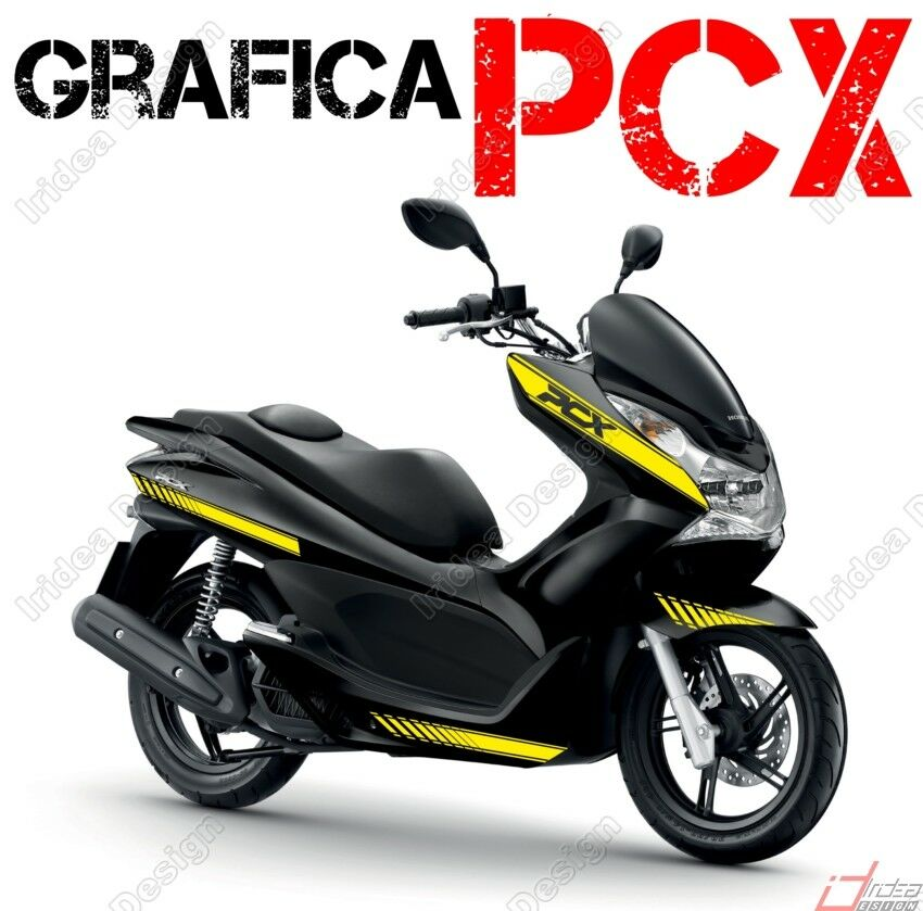 kit adesivi decal stickers honda pcx 125 150 racing carene. Black Bedroom Furniture Sets. Home Design Ideas