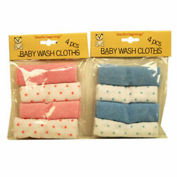 Kyпить Set Of 4 Baby Wash Clothes Beautiful Beginnings Towels  New-born Baby Clothes на еВаy.соm