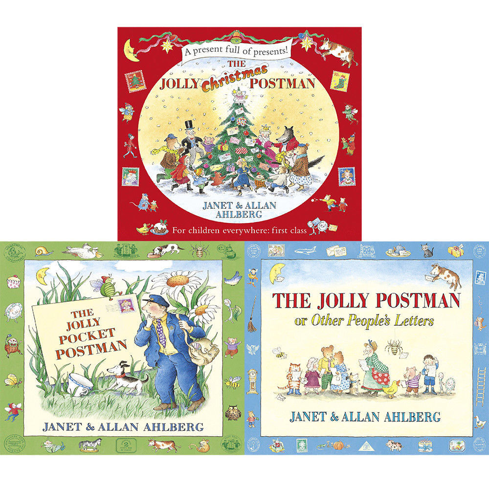 Allan Ahlberg Collection 3 Books Set The Jolly Postman,Christmas ...