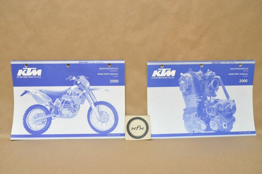 2000 Ktm 400 520 Sx Mxc Exc Racing Chassis Engine Parts
