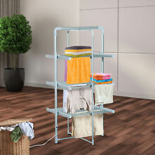 HOMCOM Folding 2 Tier Electric Indoor Heated Clothes Sweater Drying Rack Airer