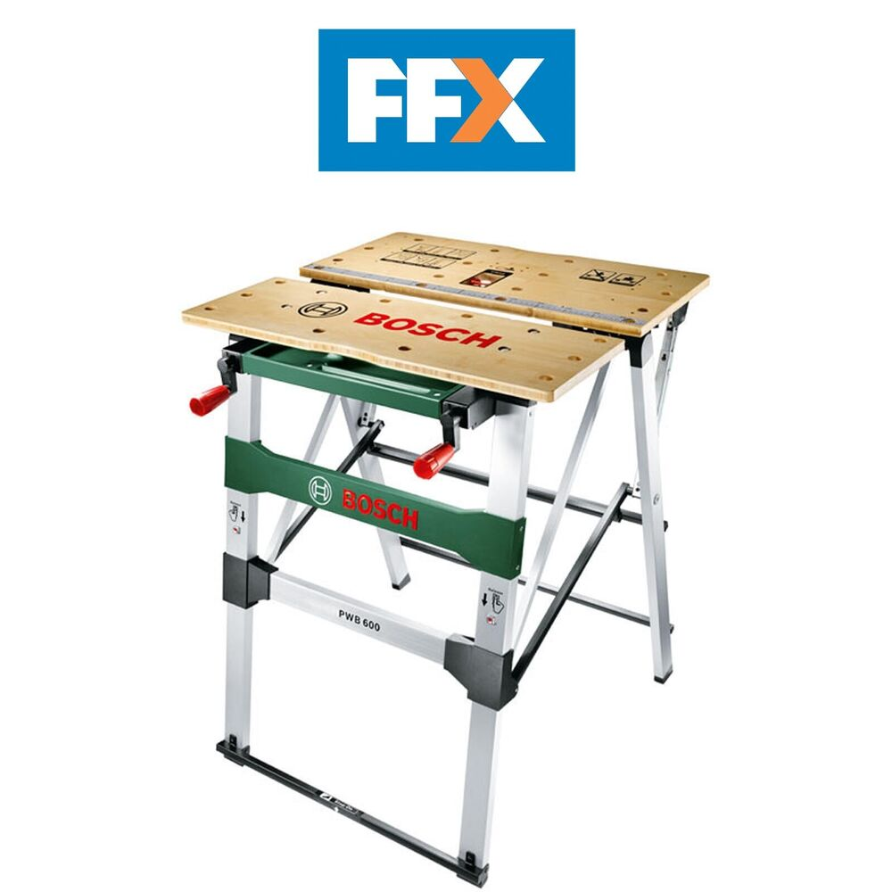 Bosch Green Pwb 600 Folding Work Bench 680mm X 553mm Ebay