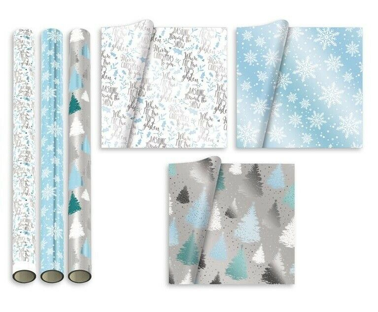 15M Luxury Christmas Wrapping Paper Roll Nordic Xmas Red