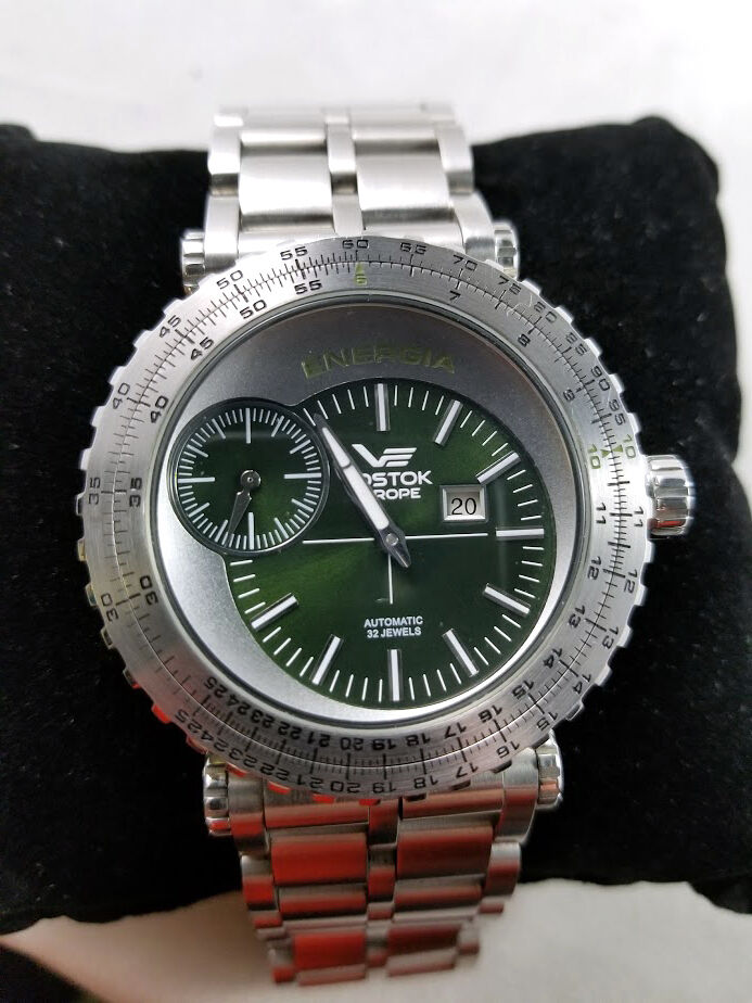 Vostok europe energia russian watch limited edition green dial ebay for Vostok europe watches