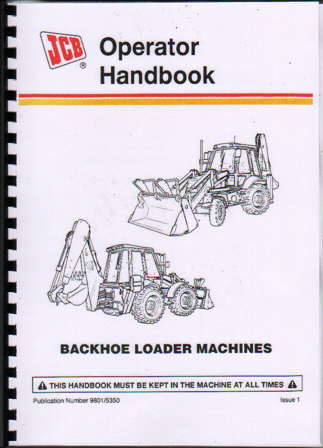 Jcb 3cx And 4cx Backhoe Loader Operator Handbook Manual