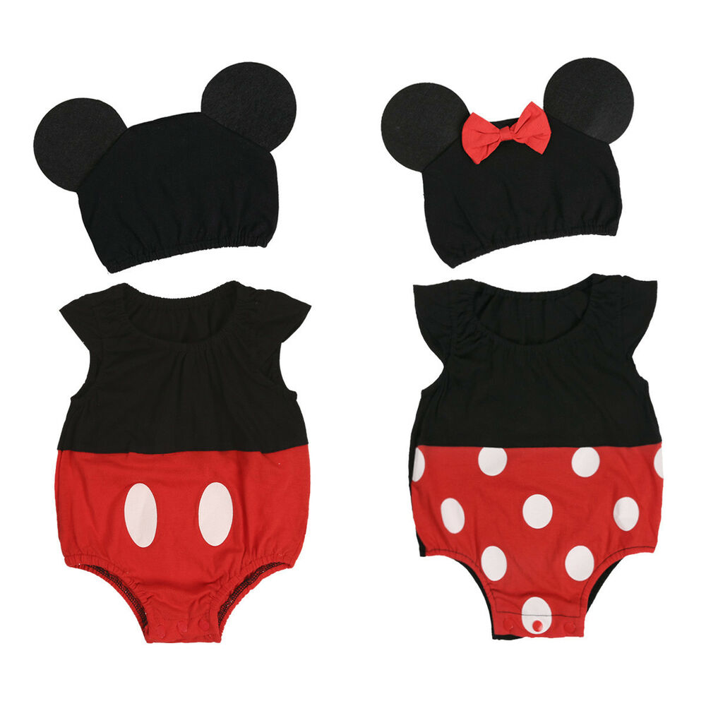 754eeb7b7 Details about Newborn Baby Minnie Mouse Costume Girl Romper Dress Bodysuit  Mickey Boy Clothes