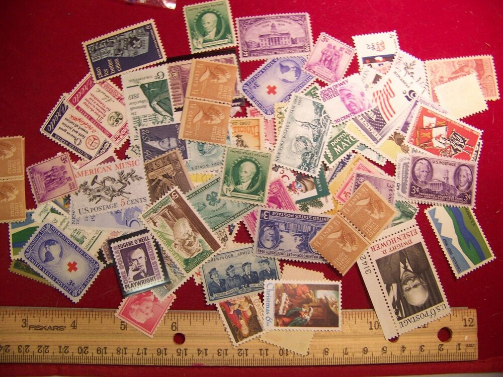 50 Mint Us Postage Stamp Lot All Different 1930s 1970s Mnh Unused Ebay