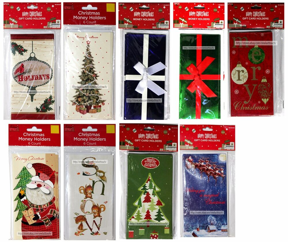 HOLIDAY/CHRISTMAS* (1) Pack MONEY/GIFT CARD HOLDER w/Envelopes *YOU ...