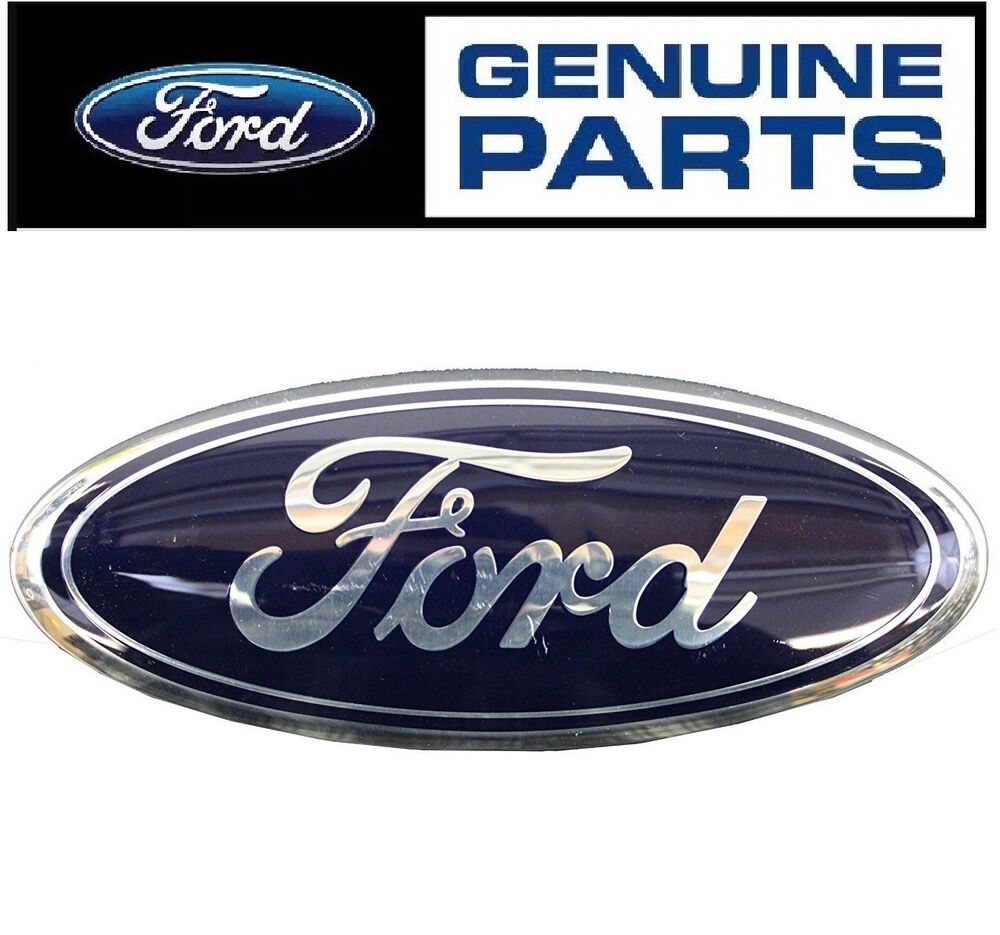 Ford Escape Fusion Front Grille Blue Ford Oval Emblem Genuine Badge