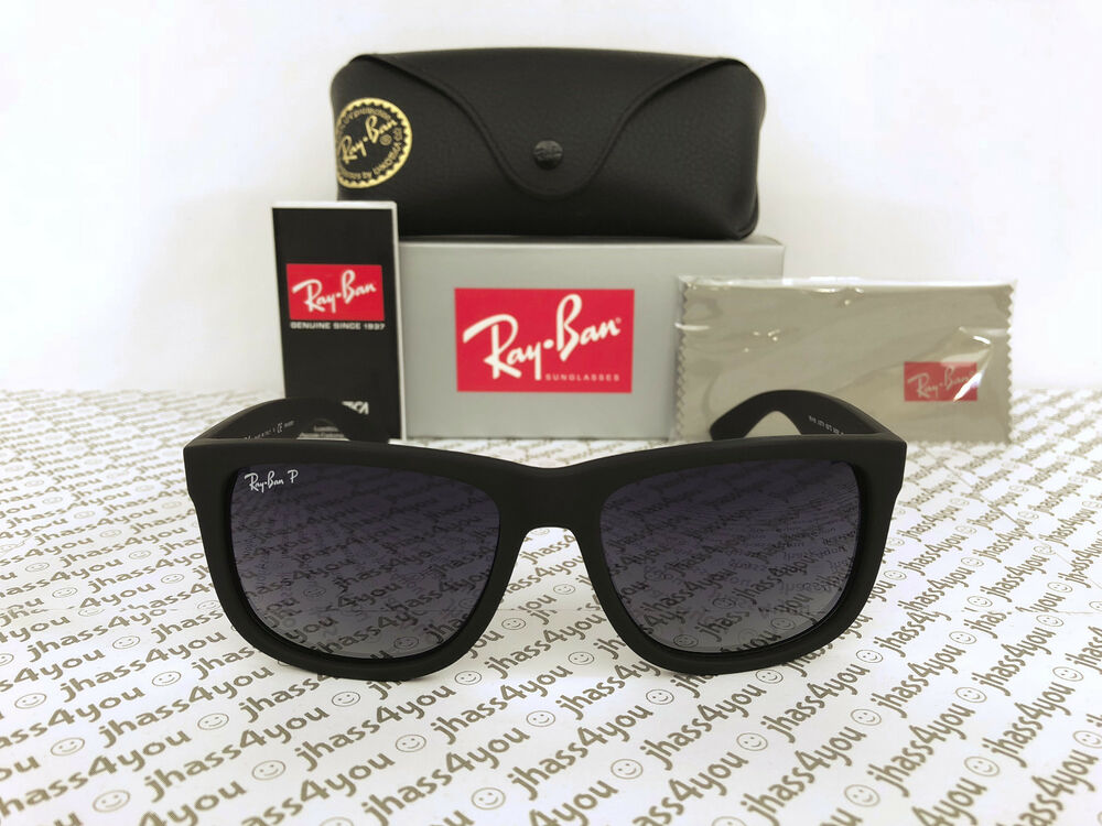 a1c3b9a3ee307 ... sunglasses c6a97 2c12a  inexpensive details about ray ban justin  polarized rb4165 622 t3 wayfarer matte black grey gradient 54mm