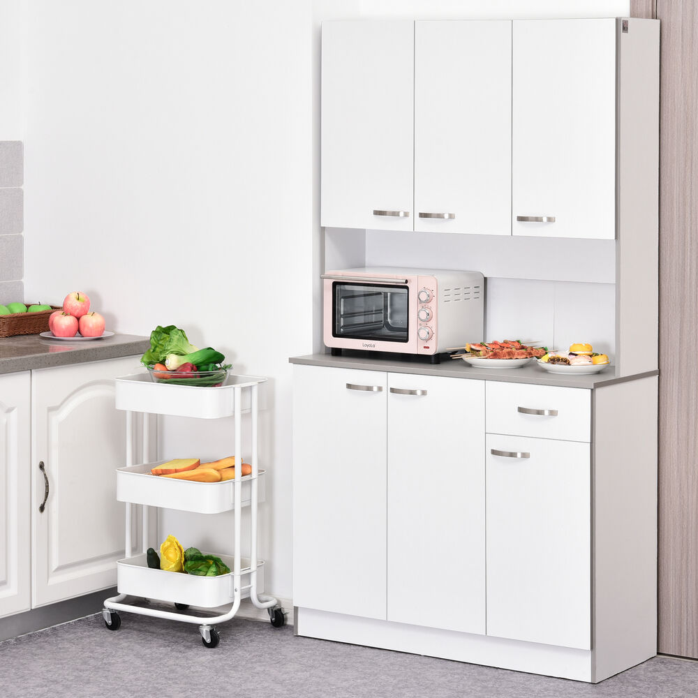 Kitchen Storage Pantry Cabinet Table Shelf Organizer