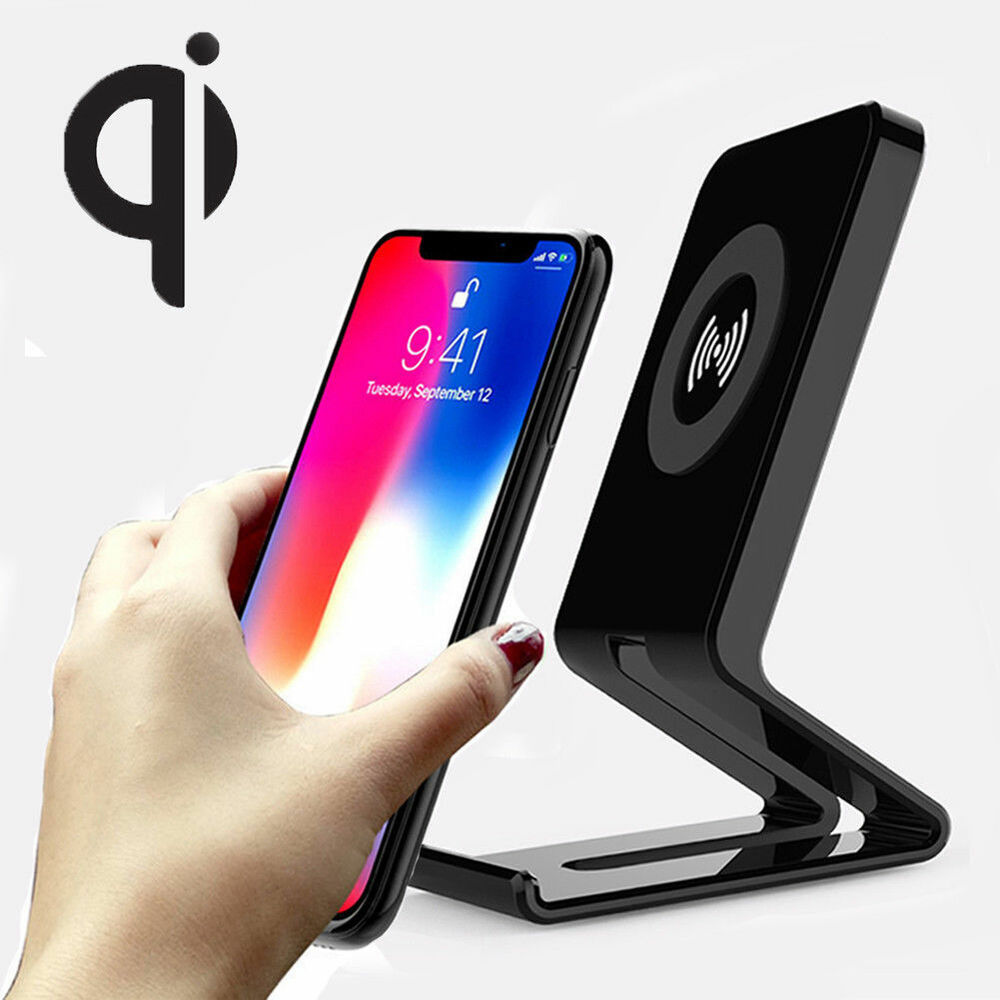 iphone charging pad qi wireless charger stand charging pad dock for iphone x 8 11744