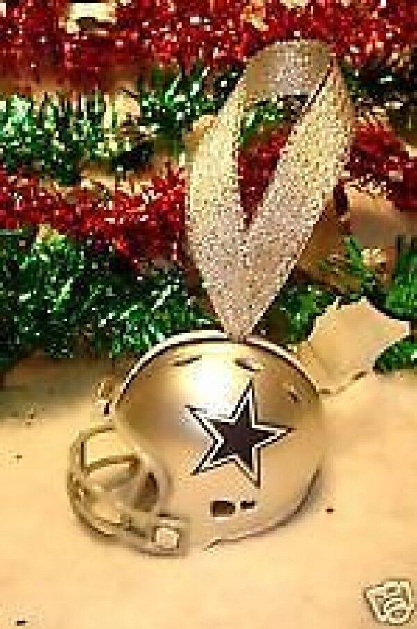 hot new christmas bell football helmet ornament dallas cowboys ring in the holiday season great gift