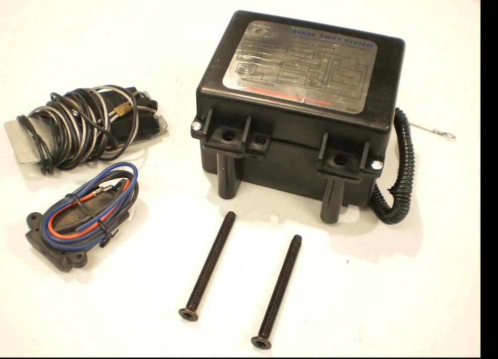 Compare Cargo Towing Solutions Vs Hopkins Engager: Trailer Breakaway Battery Brake Kit 12V Charger & Switch