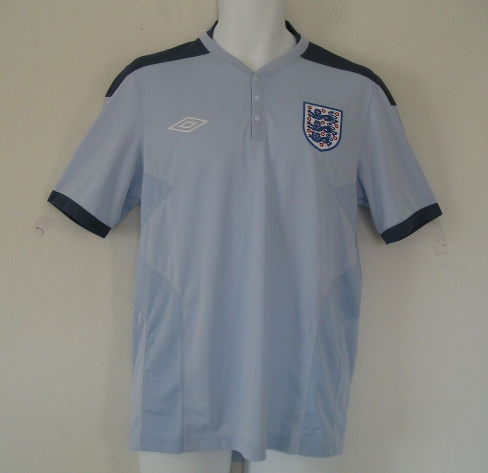 65979a8c1 nwt-Umbro ENGLAND TRAINING SKYWAY Football Soccer Jersey shirt polo~Mens Sz  XL~