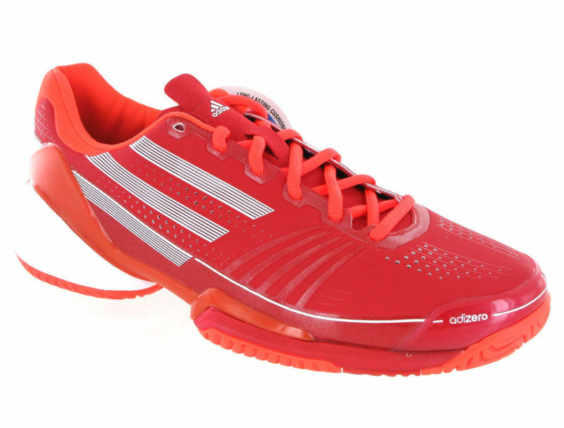 new products 433d2 79314 Adidas Adizero Feather Red Running Sport Shoes Trainers Mens UK7-12