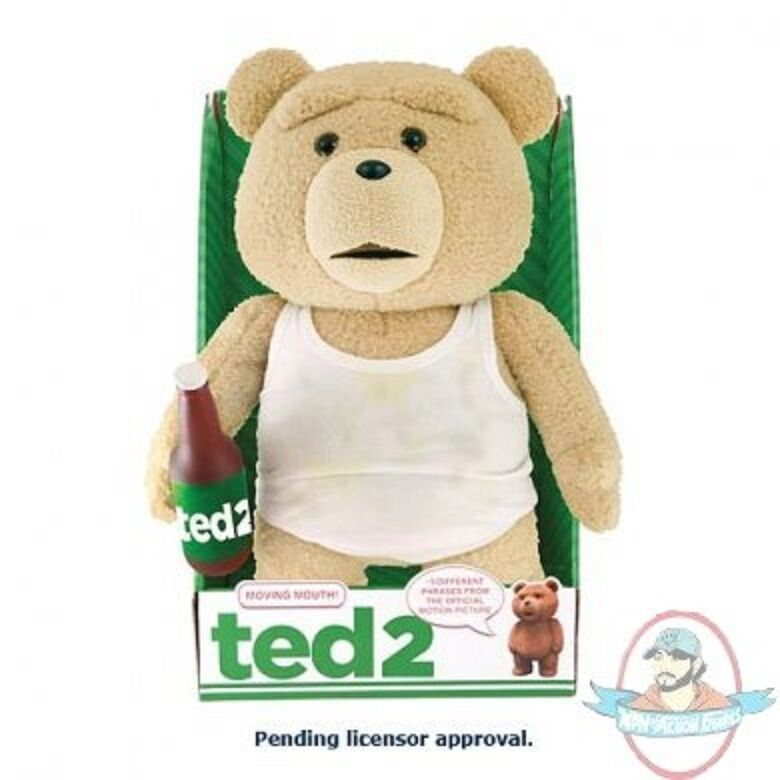 Ted 2 Ted In Tank Top 16 R Rated Animated Talking Plush Teddy Bear