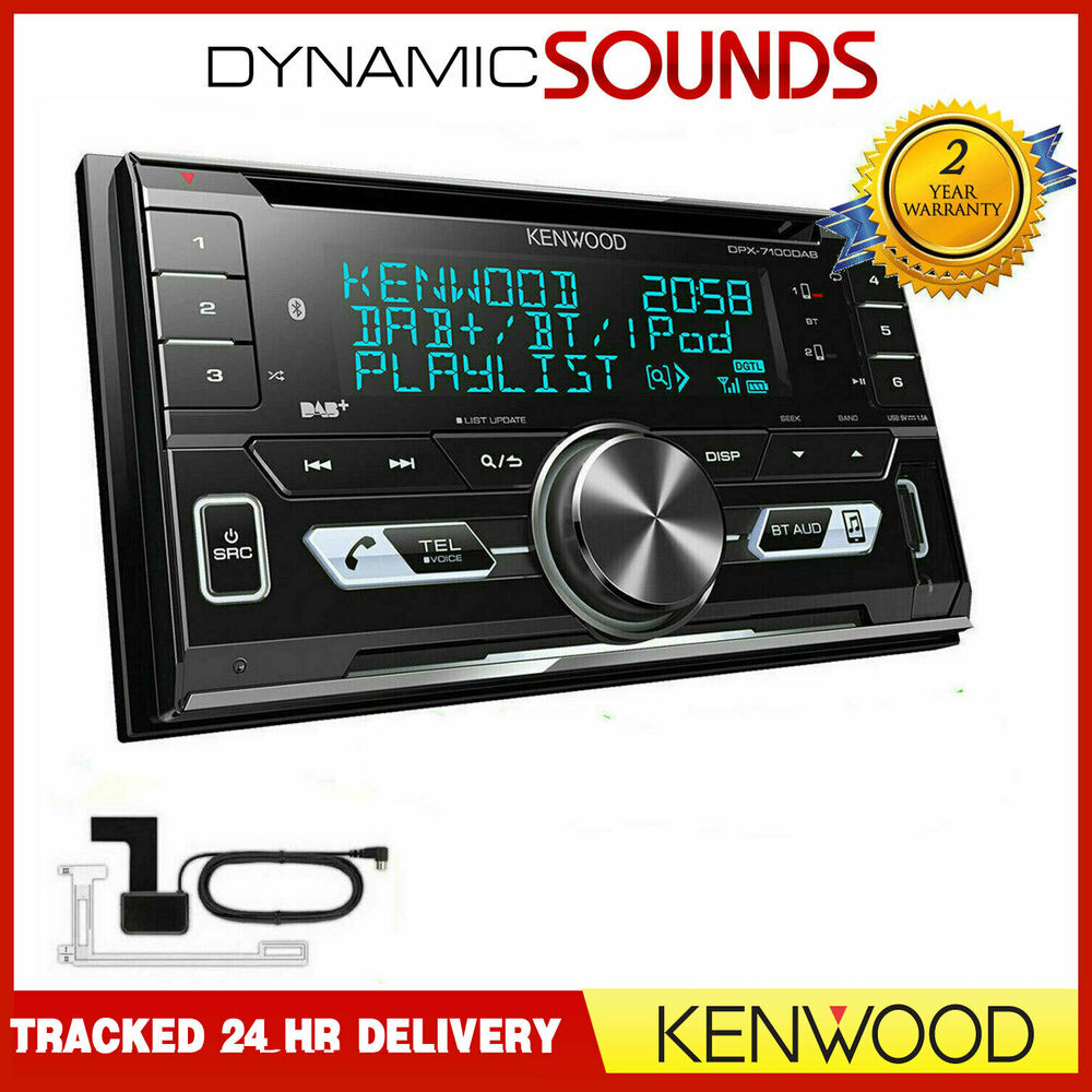 Kenwood Dpx 7100dab 2 Din Car Van Cd Aux Usb Ipod Dab Bluetooth 20012006 Round Pin Stereo Fascia Surround Wiring Fitting Kit Aerial Ebay