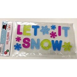 Holiday Snowflakes Let It Snow Window Gel Sticker Cling Decor classroom #1