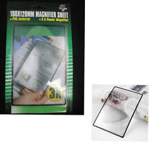 Full Page Magnifying Sheet 3X Fresnel Lens 300% Magnification Reading Vision Aid