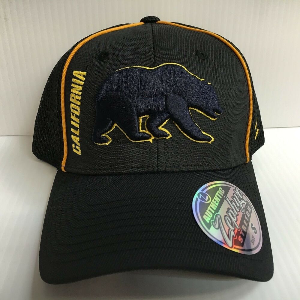 8356d13d Details about Cal Berkeley Bears Cap Zephyr Black Punisher Stretch Fit  Fitted Hat