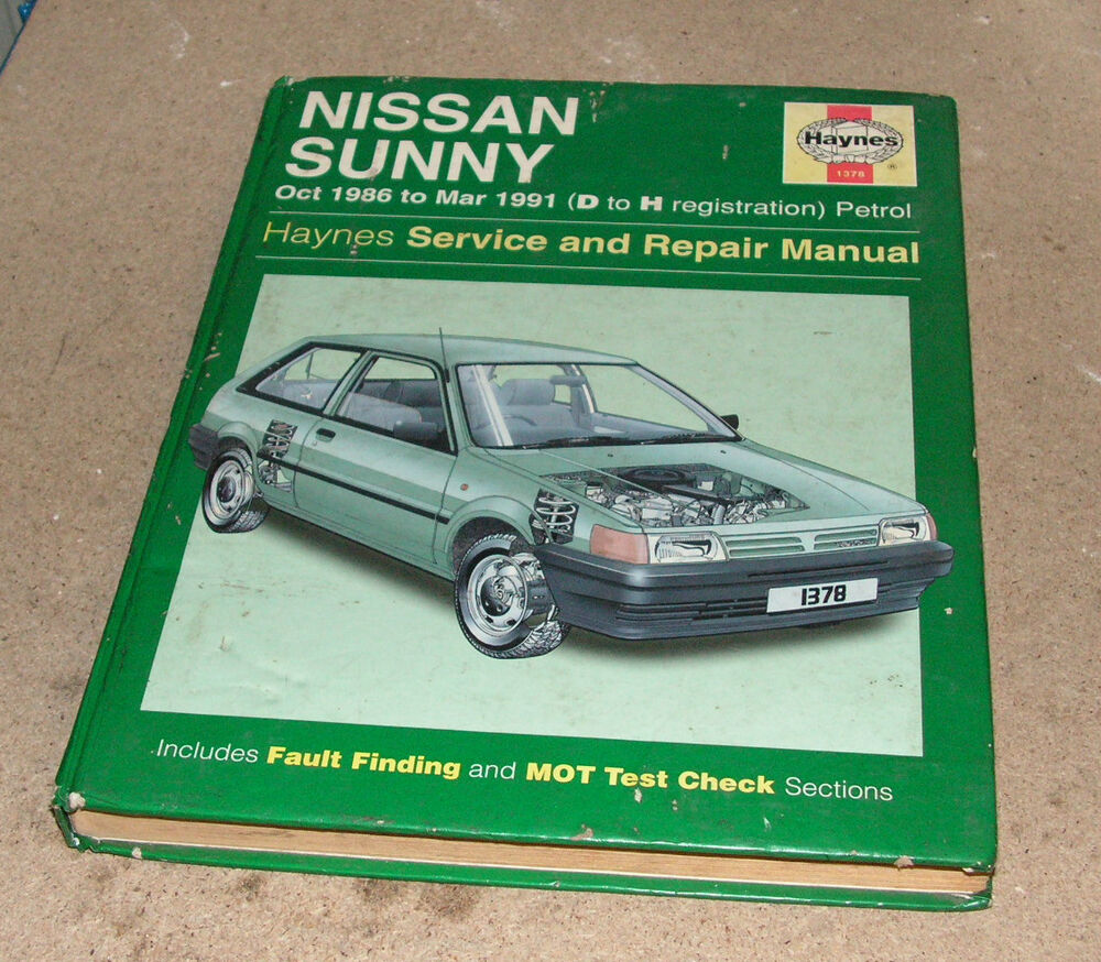 Nissan Sunny Oct 1986 To March 1991 Haynes Service And Repair Manual | eBay