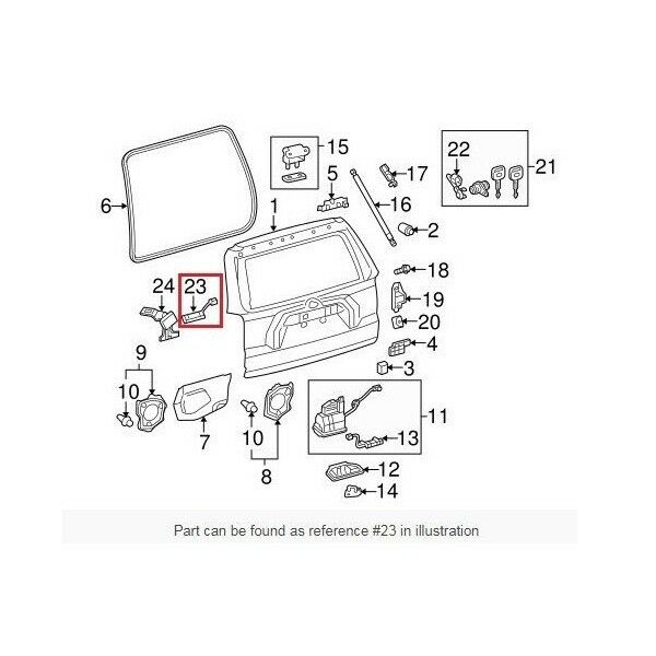 new lock switch assembly back door opener genuine for