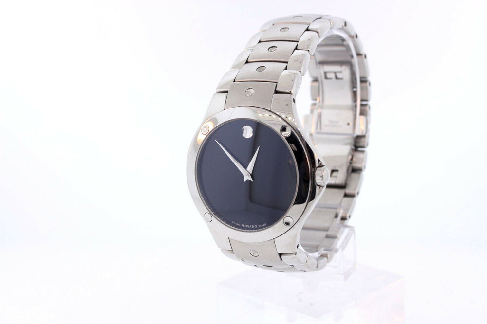 3fe1837d82c Details about Men s Movado 0605788 SPORTS EDITION SE Stainless Steel Black  Dial Watch