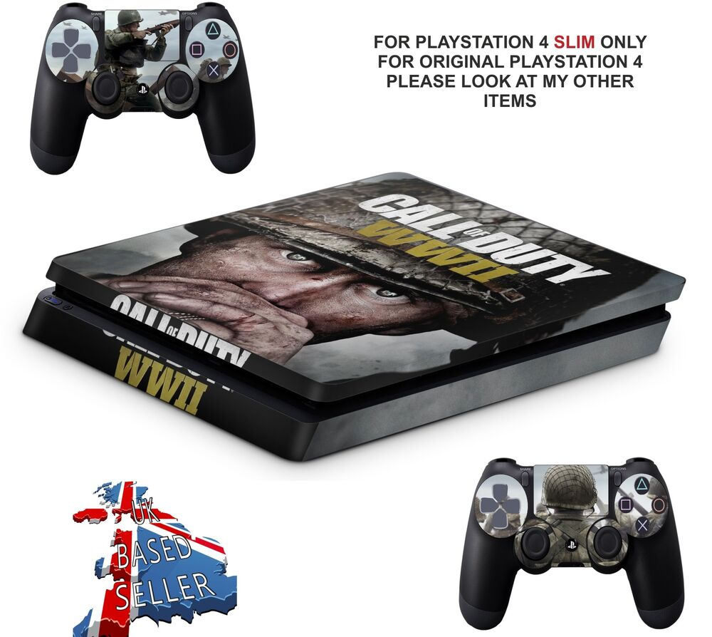 Details about call of duty wwii ps4 slim textured vinyl protective skins decals wrap