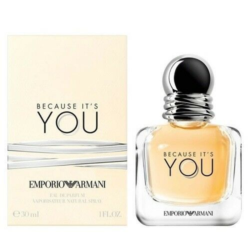 dcdab5ab61 Details about EMPORIO ARMANI BECAUSE IT'S YOU 30ML EAU DE PARFUM SPRAY  BRAND NEW & SEALED
