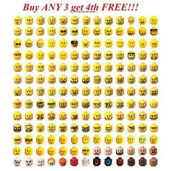 Kyпить ☀️Lego YOU PICK YOUR HEAD Minfig minifigure mini figure face male female Bulk на еВаy.соm