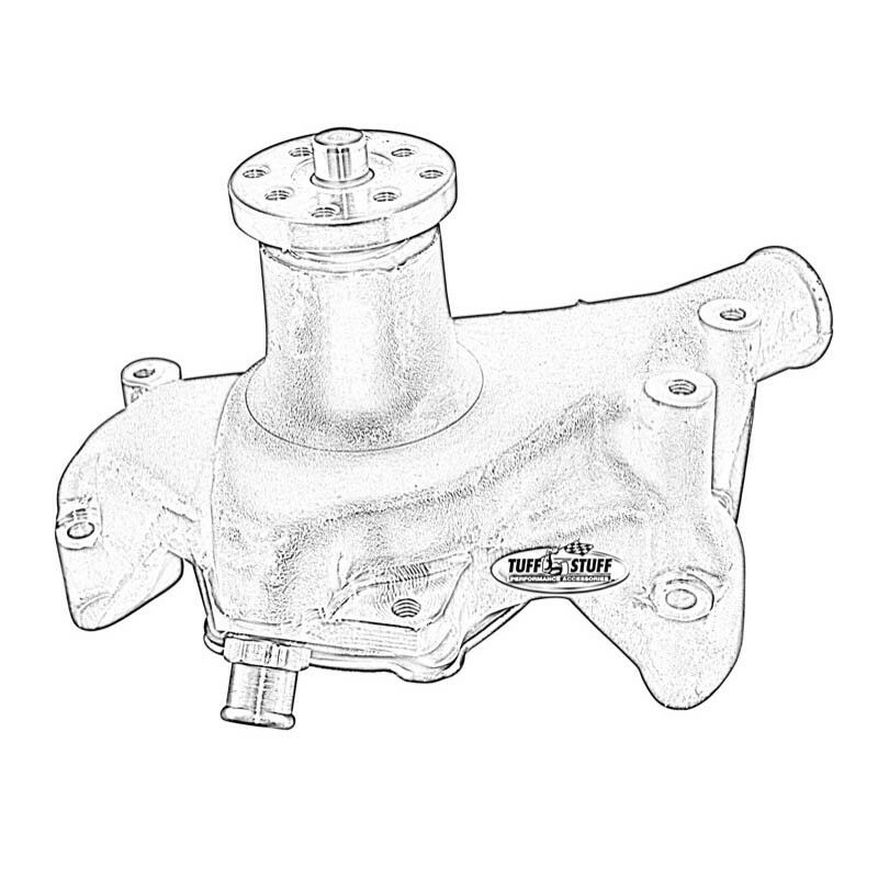 Tuff Stuff Water Pump 1511ncblue High Volume Blue Aluminum