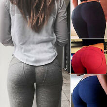 Women Butt Lift YOGA Pants Sports Compression Leggings Trousers Pencil Pants US