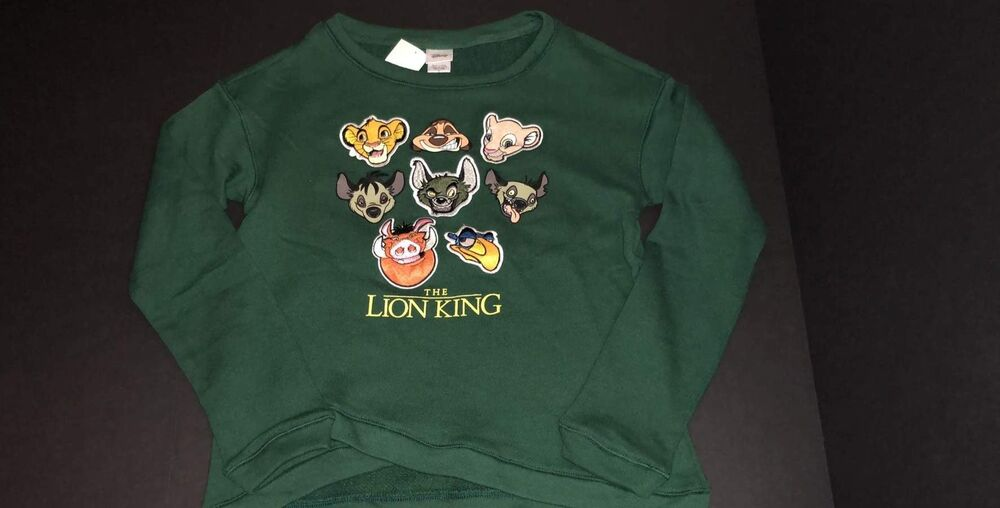 20287a2a Details about DISNEY THE LION KING GREEN SWEATSHIRT SWEATER JUNIORS SIZE S  M L XL NEW!