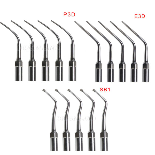 15 Inserti Punte Ablatore EMS Woodpecker Dentista Ultrasonic Scaler Diamond Tip