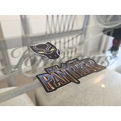 Marvel Black Panther 2-in-1 Mask & Logo Sticker Decal Sign Comic Movie Avengers