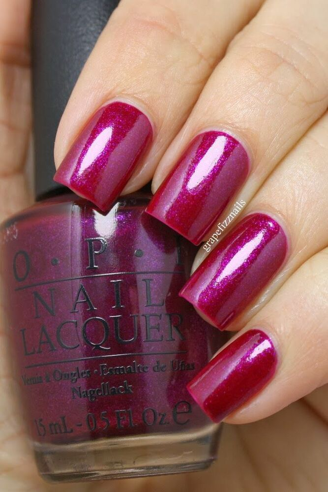 Opi Universe Congeniality Is My Middle Name Berry Pink Shimmer Nail