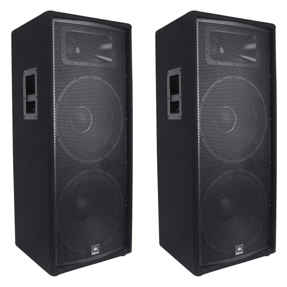 2 jbl jrx225 dual 15 professional 4000w passive dj pa speakers 4 ohm jrx 225 613815834793 ebay. Black Bedroom Furniture Sets. Home Design Ideas
