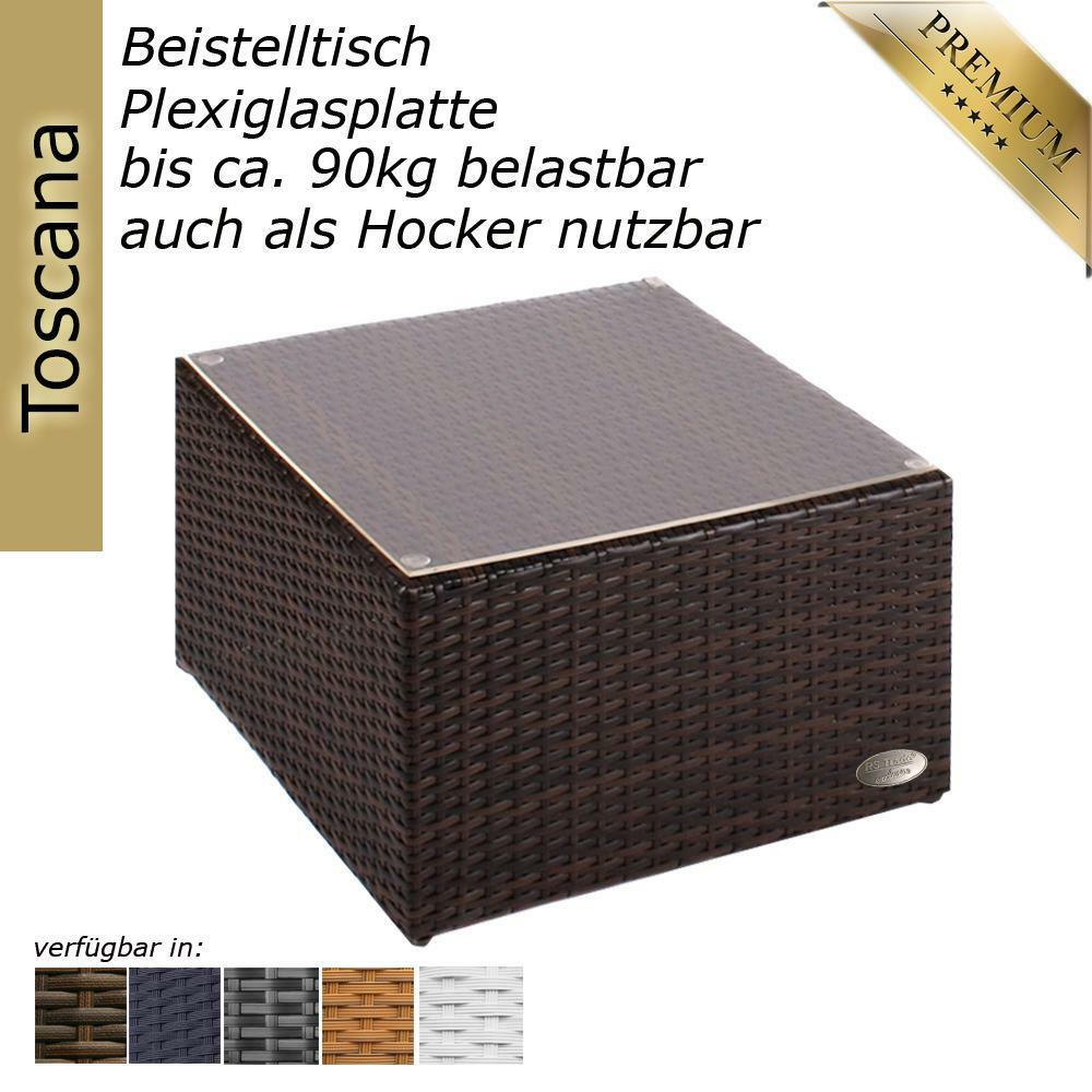 beistelltisch rattan couchtisch teetisch polyrattan tisch gartentisch braun ebay. Black Bedroom Furniture Sets. Home Design Ideas