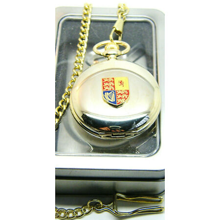 img-THE ROYAL STANDARD CYPHER BADGE POCKET WATCH AND CHAIN ARMY MILITARY GIFT BOX