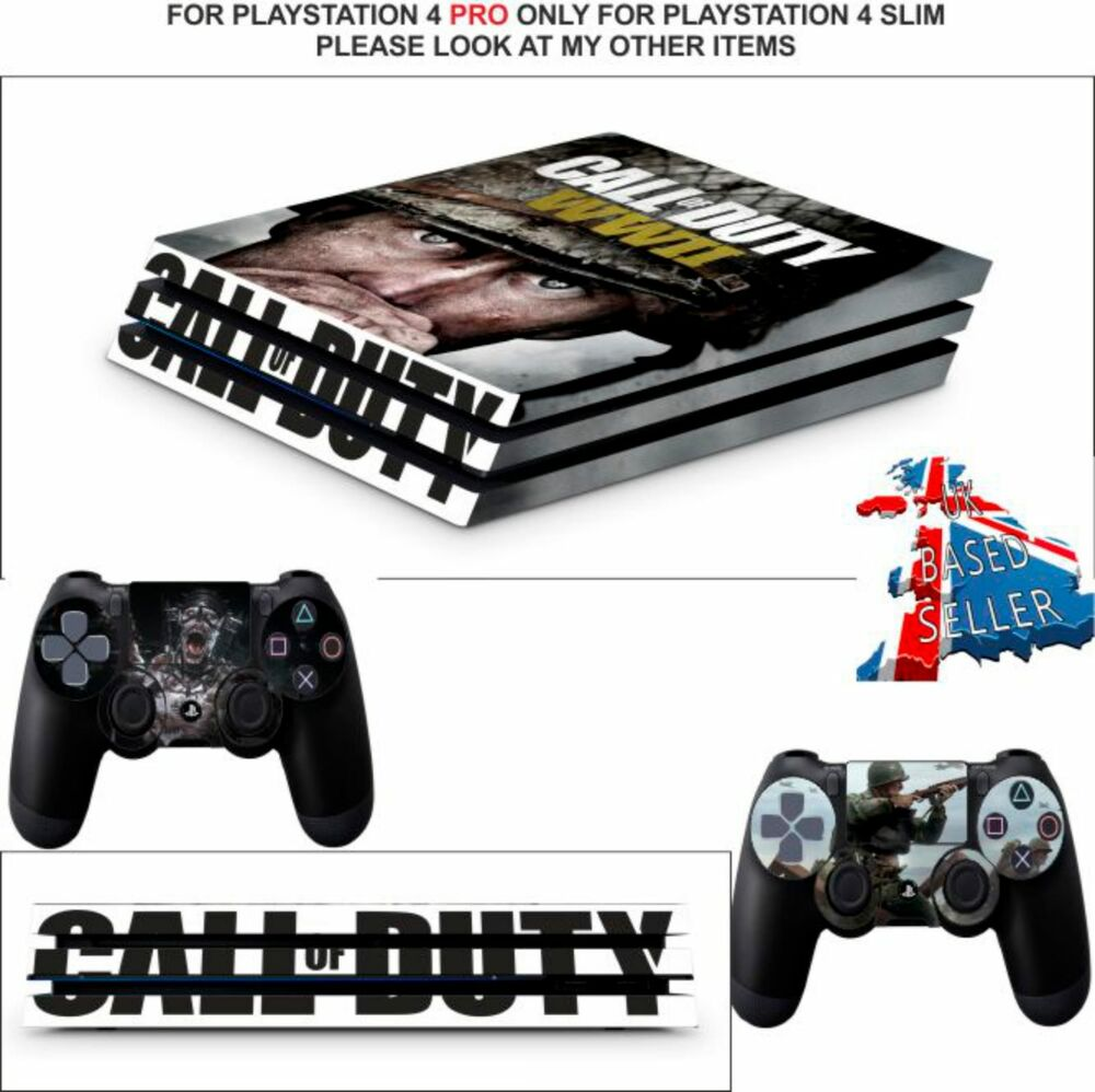 Call of duty wwii ps4 pro skins decals wrap textured vinyl sticker ebay