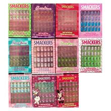 SMACKERS* 24pc Set PRE-GLUED NAILS Press-On TOTALLY TRENDY For Kids *YOU CHOOSE*
