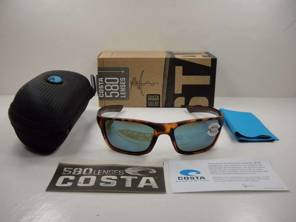 38860caa2e Details about COSTA DEL MAR WHITETIP POLARIZED WTP66 OBMGLP SUNGLASSES  TORTOISE BLUE GLASS