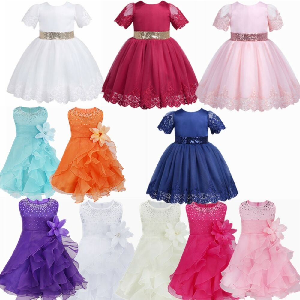 be65e0770fe Details about Flower Girls Tulle Tutu Dress Princess Wedding Bridesmaid Prom  Party Pageant