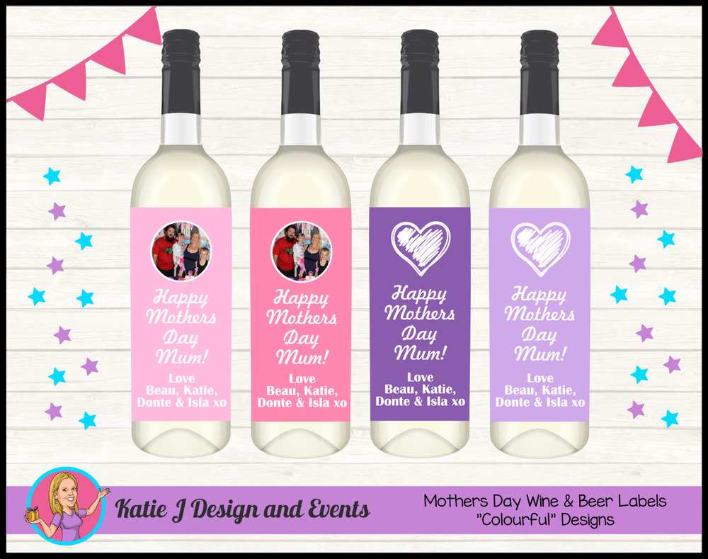 a3990d5e19 Details about * PERSONALISED MOTHERS MUM DAY GRANDMA NANNA WINE BOTTLE  LABELS GIFTS PRESENTS *